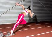 Sprinter woman — Photo
