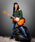 Guitar woman — Stock Photo