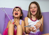 Two little princesses — Stock Photo