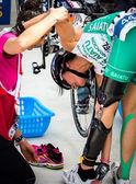 Duathlon championship — Stock Photo