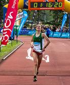 Maratón en gijón — Foto de Stock