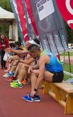 Maratona a gijon — Foto Stock