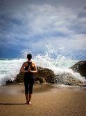 Yoga kadın — Stok fotoğraf