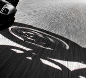 Motorcycle rider view — Stock Photo