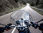 Motorcycle rider view — Stockfoto