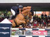 Concours de saut de cheval — Photo
