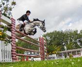 Competición de salto de caballo — Foto de Stock