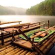 Bamboo raft for rent to tourists. — Stock Photo #13342426