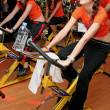 图库照片: Promote your work place gmm fitness club fitness campaign to tur