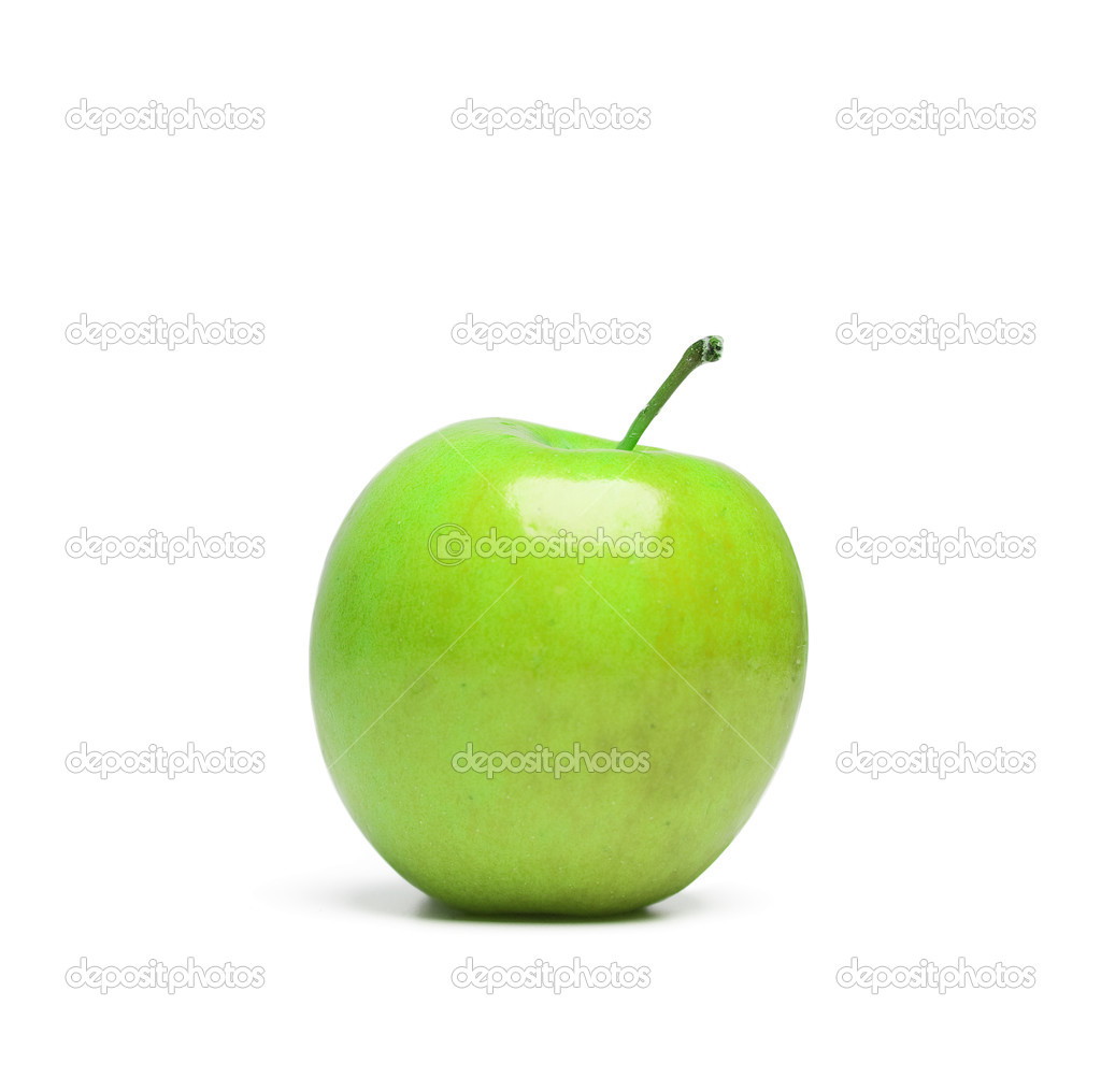 Green apple isolated  Stock Photo #13346414