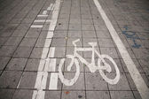 Bicycle path — Stockfoto