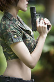 Soldier girl — Stock Photo