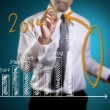 About 2014 on graph — Stock Photo #35004129