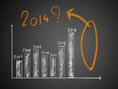 2014 üzerinde grafik hakkında — Stok fotoğraf