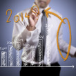 About 2014 on graph — Stock Photo #35012621