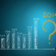 About 2014 on graph — Stock Photo #35030313