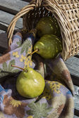 Pear from the basket — Stock Photo