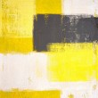 Grey and Yellow Abstract Art Painting — Stock Photo #12708123