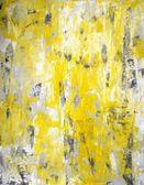 Gris y amarillo arte abstracto pintura — Foto de Stock