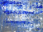 Blauw en grijs abstracte kunst schilderij — Stockfoto