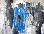 Grey and Blue Abstract Art Painting — Stock Photo