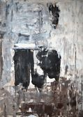 Black and White Abstract Art Painting — Stock Photo