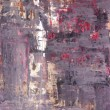 Purple and Red Abstract Art Painting — Stock Photo #21977827