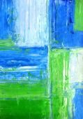Blue and Green Abstract Art Painting — Stock Photo
