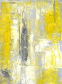 Grigio e giallo arte astratta pittura — Foto Stock