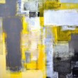 Grey and Yellow Abstract Art Painting — Stock Photo #22430337