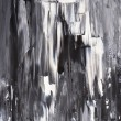 Постер, плакат: Black and White Abstract Art Painting