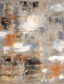 Brown and Grey Abstract Art Painting — Foto de Stock