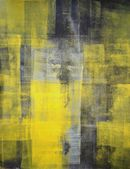 Black and Yellow Abstract Art Painting — Stock Photo