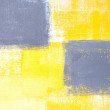 Grey and Yellow Abstract Art Painting — Stock Photo #26754591