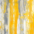Grey and Yellow Abstract Art Painting — Stock Photo