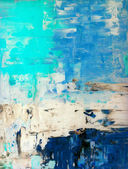 Blue and Beige Abstract Art Painting — Stock Photo