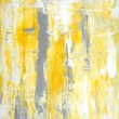 Grey and Yellow Abstract Art Painting — Stock Photo #40496925