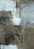 Szary i brązowy streszczenie sztuka, malarstwo — Zdjęcie stockowe
