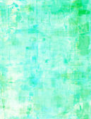 Turquoise and Green Abstract Art Painting — Stock Photo