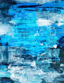 Blue Abstract Art Painting — Stock Photo