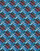 Teal and Red Pattern — Stock Photo