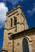 Anglican church steeple — Stock Photo