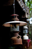Antique lamp and Rust — Stock Photo