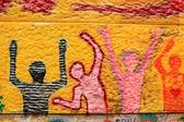 Colourful graffiti — Stock Photo