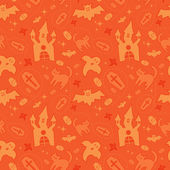 Orange halloween pattern — Stok Vektör