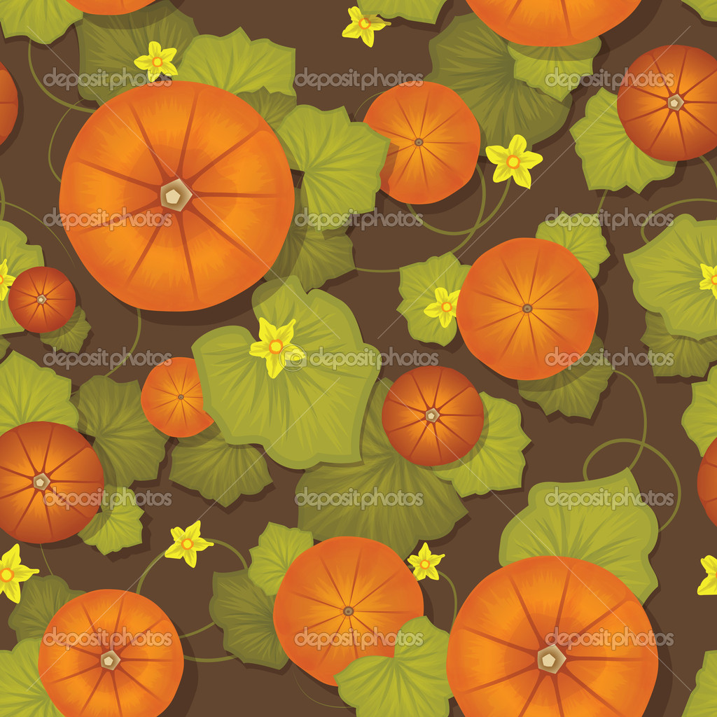 Pumpkin pattern — Stock Vector #12827942