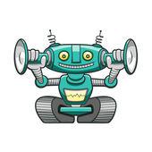 Funny green robot Funny green robot — Stock Vector