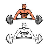 Weightlifter — Stock Vector
