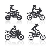 Set of icons - motosport — Stock Vector