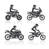 Set of icons - motosport — Stock Vector
